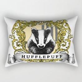 Hufflepuff Color Crest Rectangular Pillow