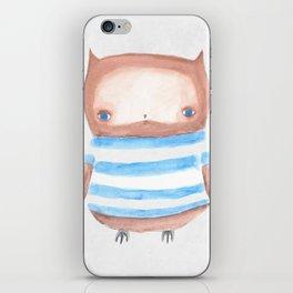 Owl in Stripes iPhone Skin