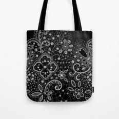 B&W Lace Tote Bag
