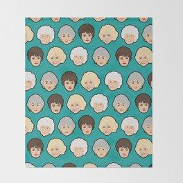 Golden Girls Green Pop Art Throw Blanket