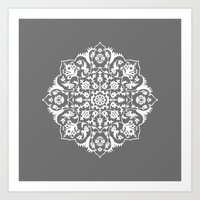 gray Art Prints featuring gray by MyMoonart