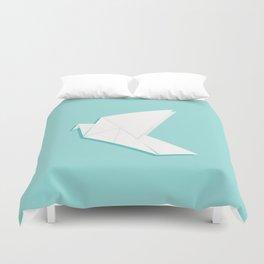 Origami pigeon Duvet Cover