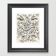Keep Drawing Framed Art Print