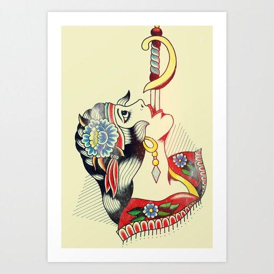 Sword Magic Girl Art Print