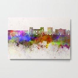 Tarento skyline in watercolor background Metal Print