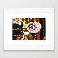 lanterns Framed Art Prints featuring Lanterns by Brendan Hughes