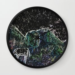 Singing Horse  at Night From Raise Every Voice and Sing Wall Clock