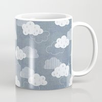 rain Mugs featuring RAIN CLOUDS by Daisy Beatrice