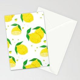 Big Lemon pattern Stationery Cards