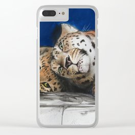 Amur Leopard - Mother and Cub Clear iPhone Case