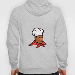 African American Chef Baker Mascot Hoody