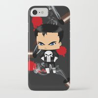 punisher iPhone & iPod Cases featuring Chibi Punisher by artwaste
