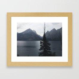 Gloomy Lake Framed Art Print