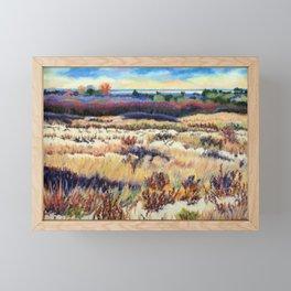 Winter Dunes at Barnegat light, Long Beach Island, New Jersey, Jersey Shore Framed Mini Art Print