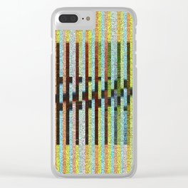 stripey fades Clear iPhone Case