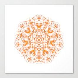 Magic Seven Mandala eden spirit orange Canvas Print