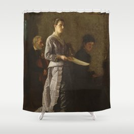 Singing a Pathetic Song Oil Painting by Thomas Eakins Shower Curtain