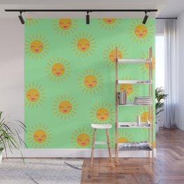 Litle Sunshine (mint) Wall Mural