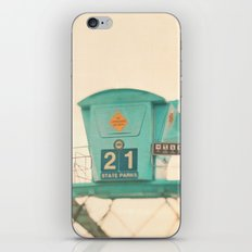 beach photograph, lifeguard stand. No. 21 iPhone & iPod Skin