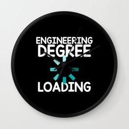 Engineering Degree - Loading Wall Clock