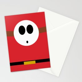 Minimalist Shy Guy Stationery Cards