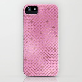 Fuchsia Mermaid Scales iPhone Case