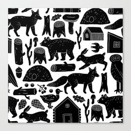 Forest Critters Canvas Print