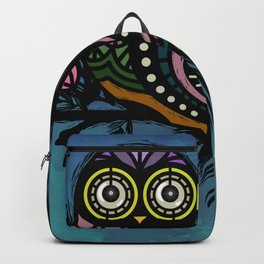 A Perfect Pair Of Midnight Moonlit Owls Backpack