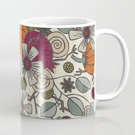 Fall Botanical Art Cream Background Coffee Mug
