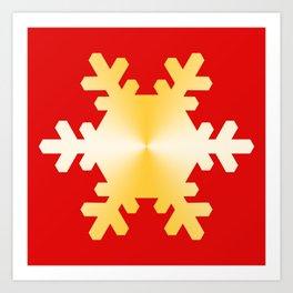 Gold Snowflake Art Print