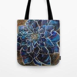 Blue Dahlia Tote Bag