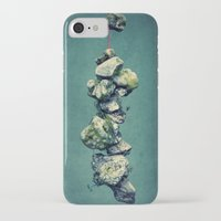 stone iPhone & iPod Cases featuring stone by Claudia Drossert