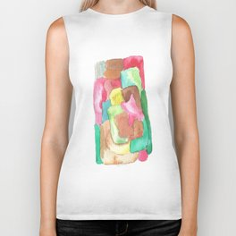 171013 Invaded Space 6|abstract shapes art design |abstract shapes art design colour Biker Tank