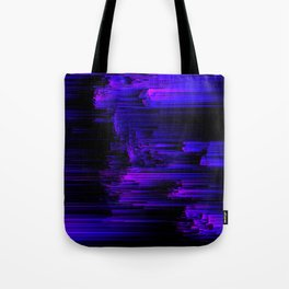 Ultraviolet Light Speed - Abstract Glitch Pixel Art Tote Bag