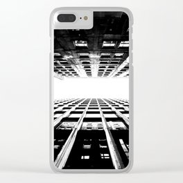Hyperspace Buildings Clear iPhone Case