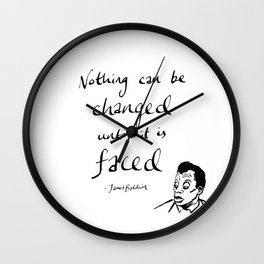 James Baldwin Motivational Quote Wall Clock
