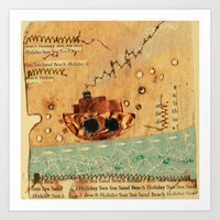 nautical Art Prints featuring Nautical by Ingrid Castile