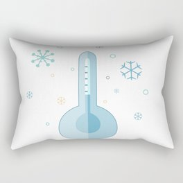 Cute Icon with Thermometer with winte elements.  Rectangular Pillow