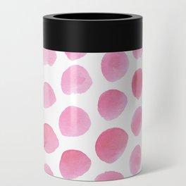 Pink Polka Dot Watercolour Can Cooler