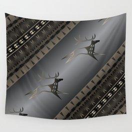 Elk Spirit (Gray) Wall Tapestry