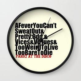P!ATD Albums Wall Clock