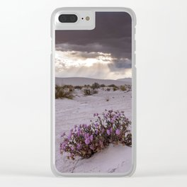 Sunrays and Storm Clouds at White Sands National Monument Clear iPhone Case
