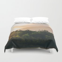 Mountains in the background IX Duvet Cover