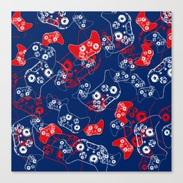 Video Game Red White & Blue 2 Canvas Print