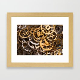 Cogwheels background Framed Art Print