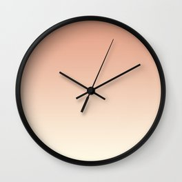 Pratt & Lambert's Color of the Year 2019 Earthen Trail Pink 4-26 and Dover White 33-6 Ombre Gradient Wall Clock