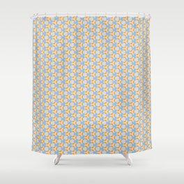 Flower and Fidget Spinner Shower Curtain