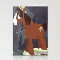 mlp Stationery Cards featuring MLP TROUBLESHOES CLYDE by Kalisourusrex