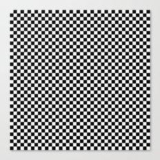 Black White Checks Canvas Print
