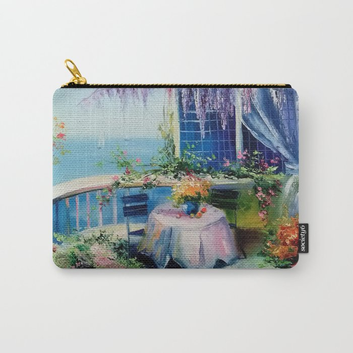 On the balcony of the sea Carry-All Pouch